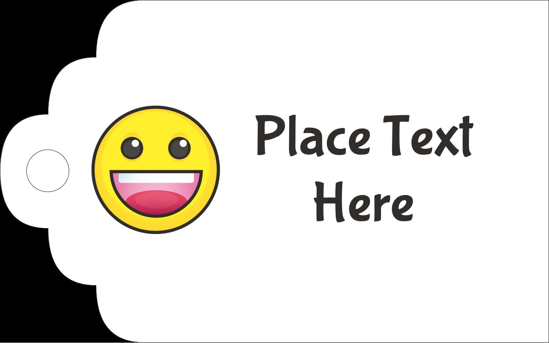 "2"" x 1⅛"" Printable Tags - Emoji Faces"