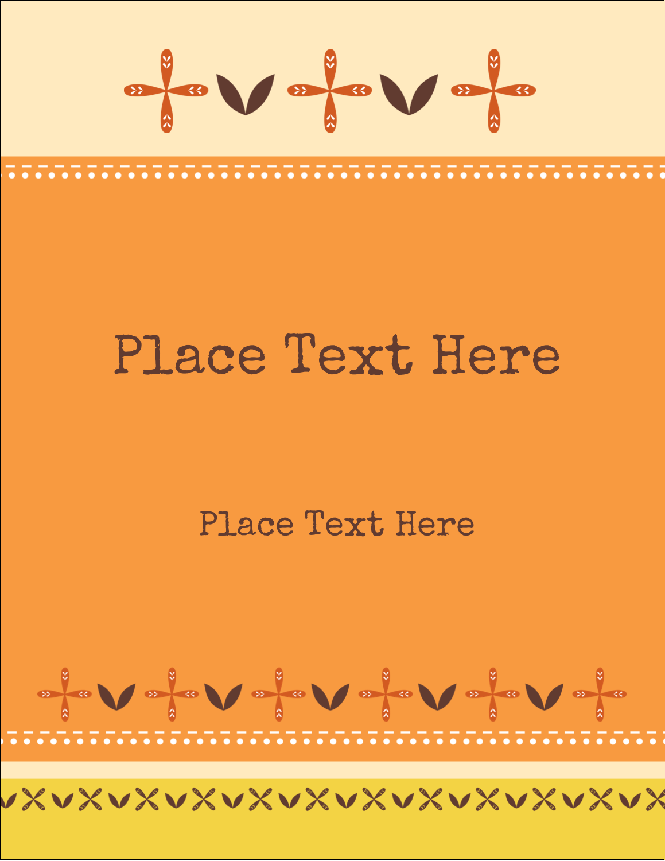 "4¼"" x 5½"" Postcard - Geometric Orange Blossoms"