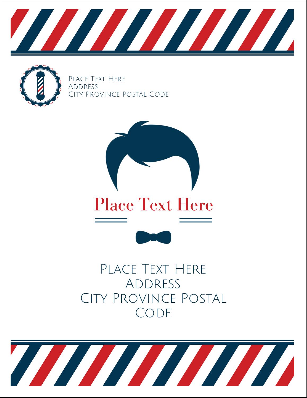 """4¼"""" x 5½"""" Postcard - Barber Shop"""