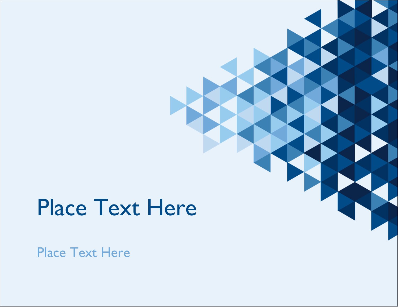 "4¼"" x 5½"" Postcard - Blue Angles"