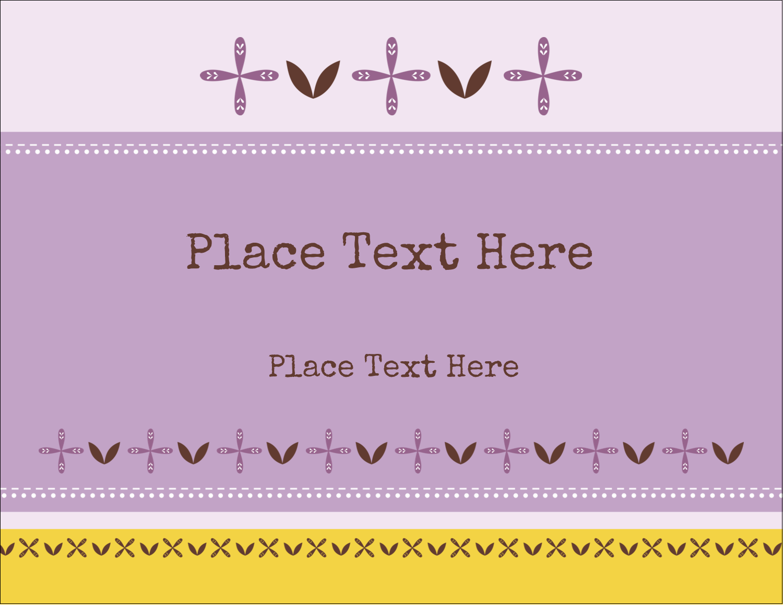 "4¼"" x 5½"" Postcard - Geometric Lavender Blossoms"