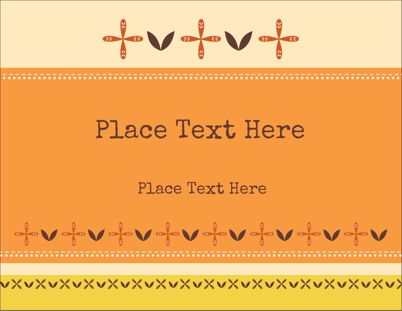 "5½"" x 4¼"" Postcard - Geometric Orange Blossoms"