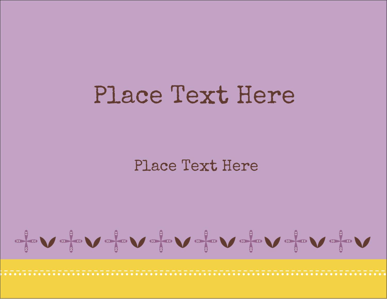 "5½"" x 4¼"" Postcard - Geometric Lavender Blossoms"