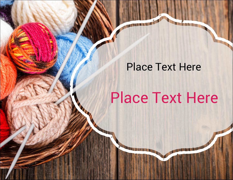 "5½"" x 4¼"" Postcard - Knitting Crafts"