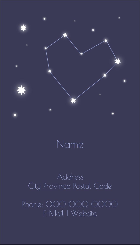 "3½"" x 2"" Business Card - Anniversary Stars"