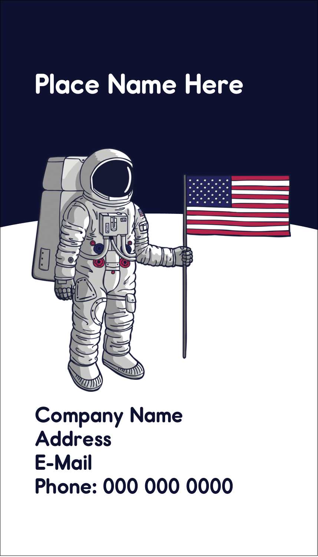 "3½"" x 2"" Business Card - Astronaut"