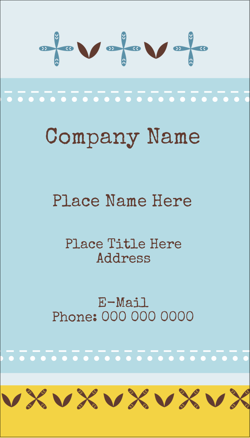"3½"" x 2"" Business Card - Bath Blue"