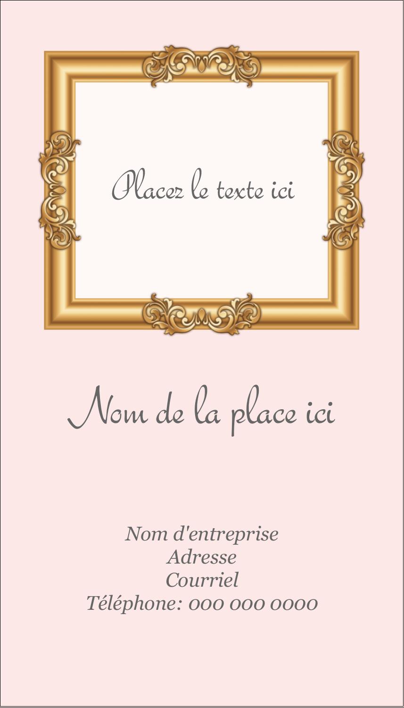 """3½"""" x 2"""" Carte d'affaire - Galerie d'art"""