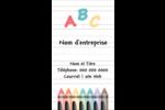 Enseignement préscolaire Carte d'affaire - gabarit prédéfini. <br/>Utilisez notre logiciel Avery Design & Print Online pour personnaliser facilement la conception.