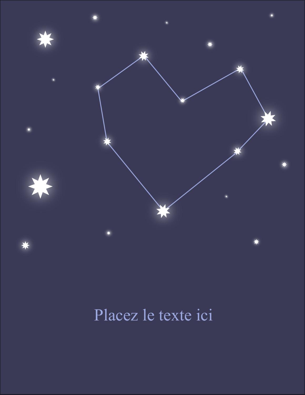 """5½"""" x 4¼"""" Carte Postale - Étoiles d'anniversaire"""