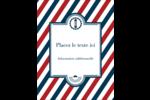 Enseigne de barbier audacieuse Carte Postale - gabarit prédéfini. <br/>Utilisez notre logiciel Avery Design & Print Online pour personnaliser facilement la conception.
