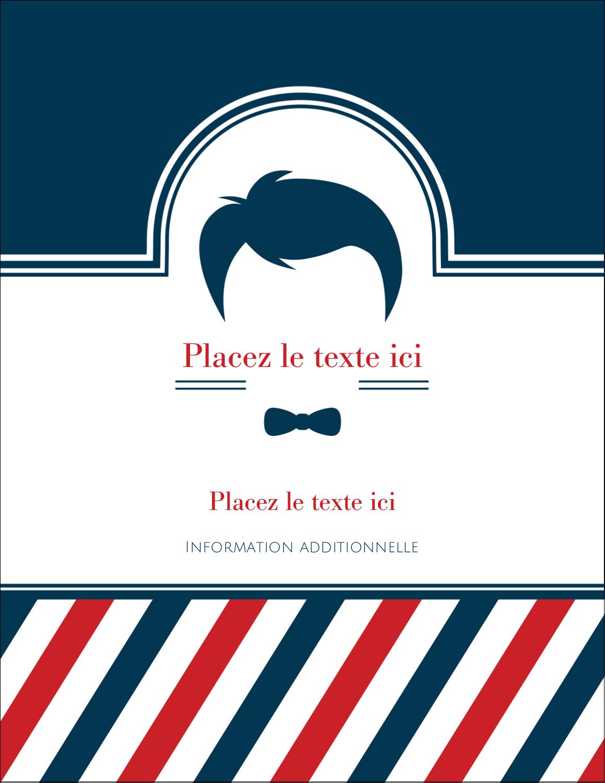 """5½"""" x 4¼"""" Carte Postale - Salon de barbier"""