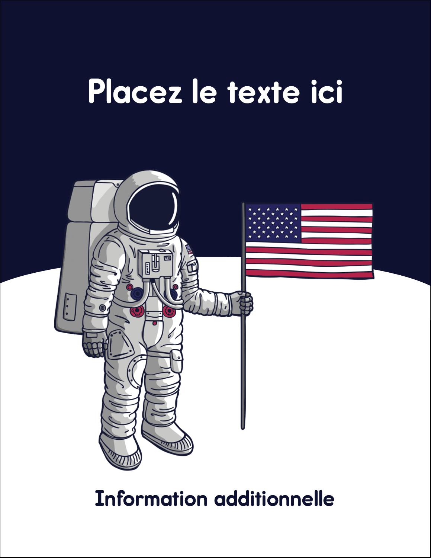 """5½"""" x 4¼"""" Carte Postale - Astronaute"""