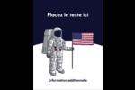 Astronaute Carte Postale - gabarit prédéfini. <br/>Utilisez notre logiciel Avery Design & Print Online pour personnaliser facilement la conception.