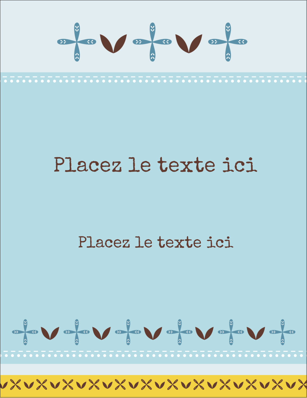 "5½"" x 4¼"" Carte Postale - Bain bleu"