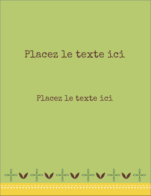 """5½"""" x 4¼"""" Carte Postale - Fleurs vertes géométriques"""