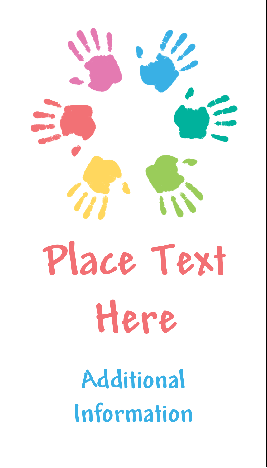 """3½"""" x 2"""" Business Card - Childcare Hands"""