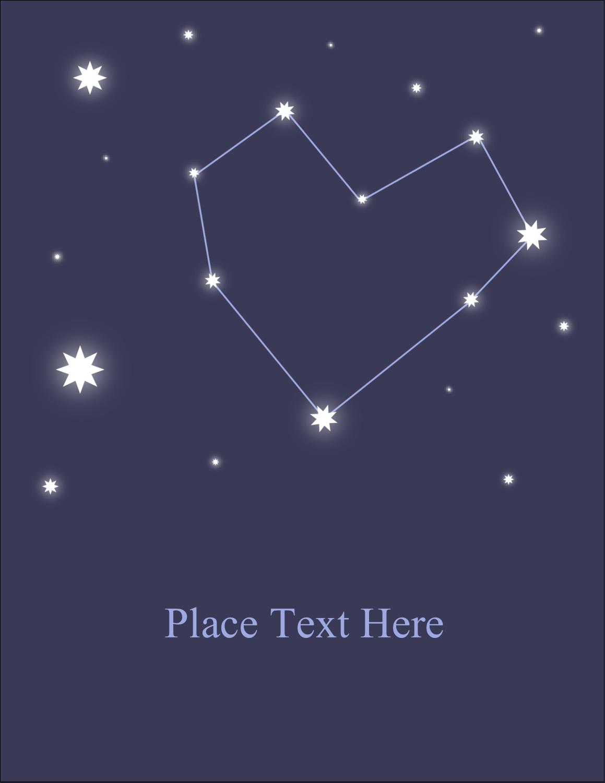 """5½"""" x 4¼"""" Postcard - Anniversary Stars"""