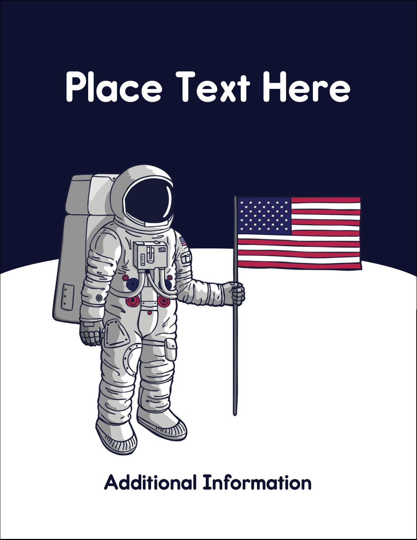"5½"" x 4¼"" Postcard - Astronaut"