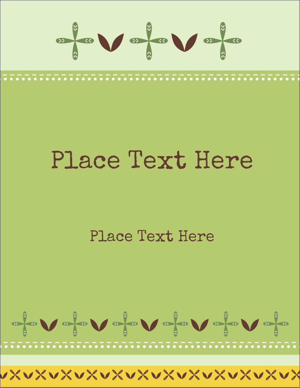 """5½"""" x 4¼"""" Postcard - Geometric Green Blossoms"""