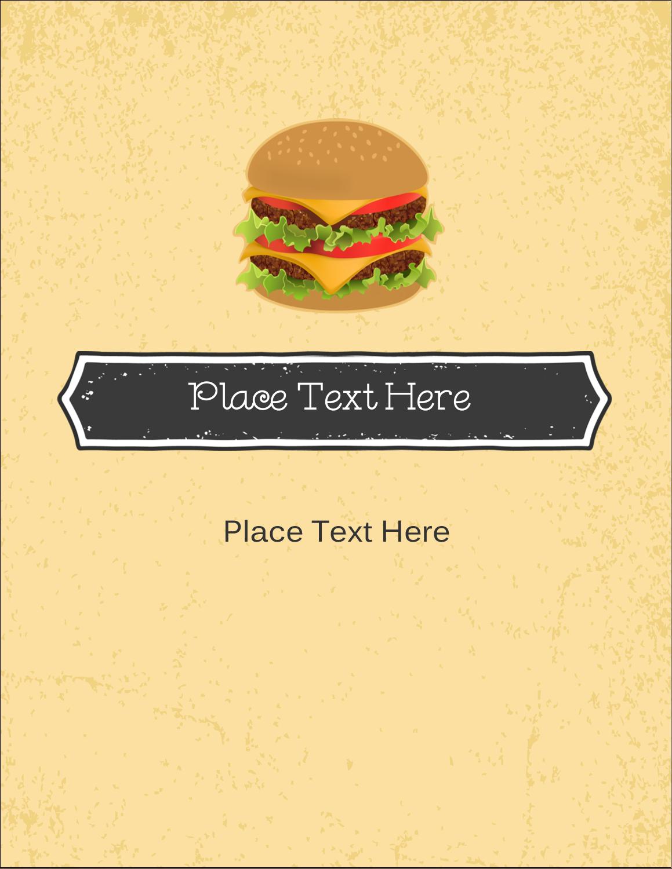 "5½"" x 4¼"" Postcard - Burger"