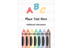 pre-designed Education Preschool templates work well for a variety of customized projects.