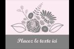 Bouquet de fleurs Carte Postale - gabarit prédéfini. <br/>Utilisez notre logiciel Avery Design & Print Online pour personnaliser facilement la conception.