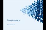 Angles bleus  Carte Postale - gabarit prédéfini. <br/>Utilisez notre logiciel Avery Design & Print Online pour personnaliser facilement la conception.