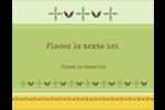 Fleurs vertes géométriques Cartes Pour Le Bureau - gabarit prédéfini. <br/>Utilisez notre logiciel Avery Design & Print Online pour personnaliser facilement la conception.
