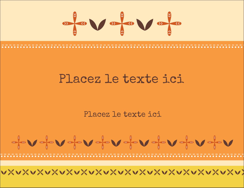 """4¼"""" X 5½"""" Carte Postale - Fleurs orange géométriques"""