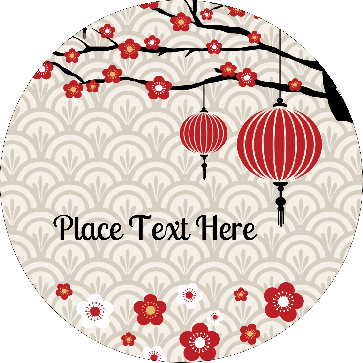 "3"" Round Label - Chinese New Year"