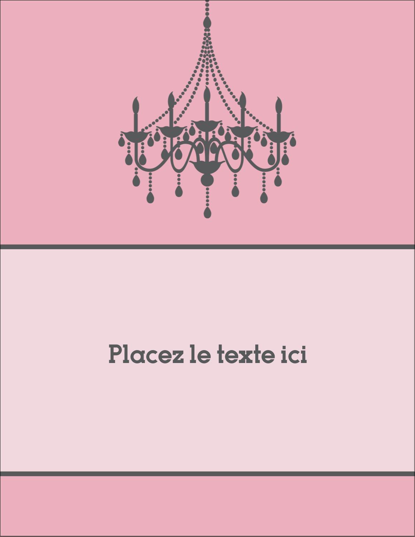 """5½"""" x 4¼"""" Carte Postale - Chandelier"""