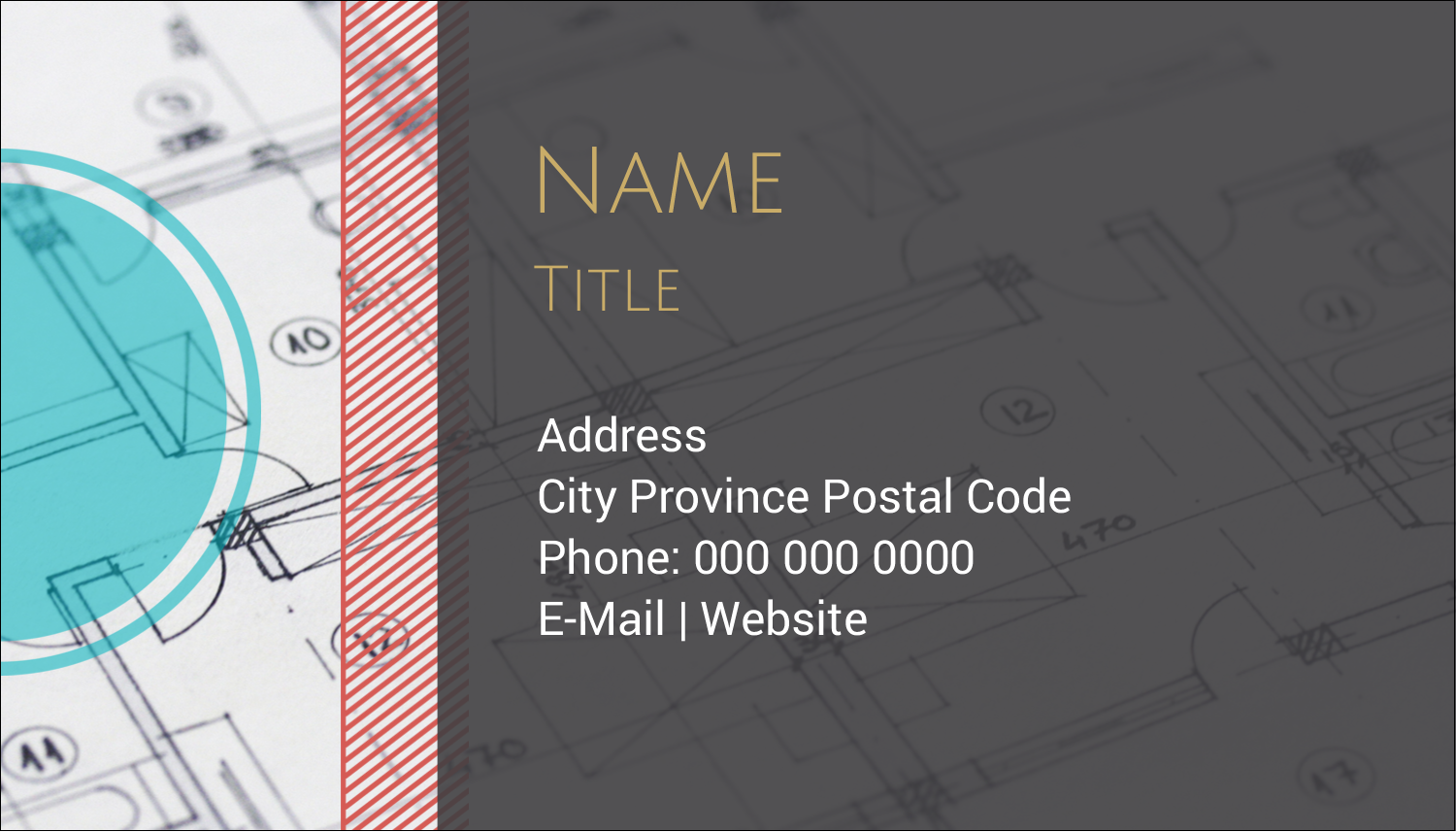 """2"""" x 3½"""" Business Card - Architecture"""