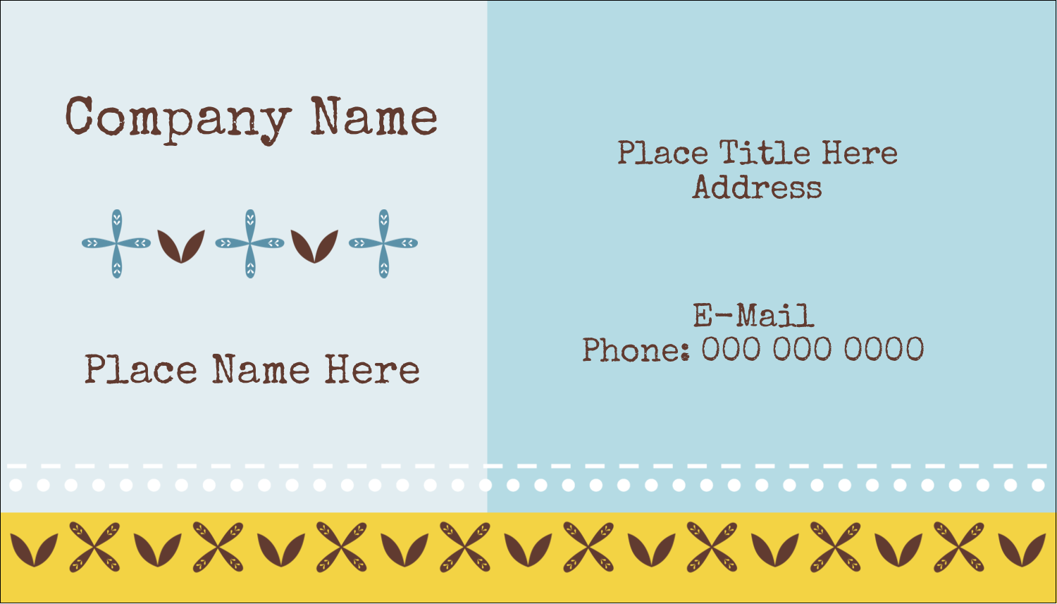 "2"" x 3½"" Business Card - Bath Blue"
