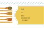 Customize personal or professional projects with pre-designed Cooking Spoons templates.