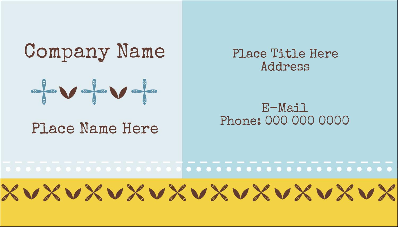"2"" x 3½"" Business Card - Bath Blue"