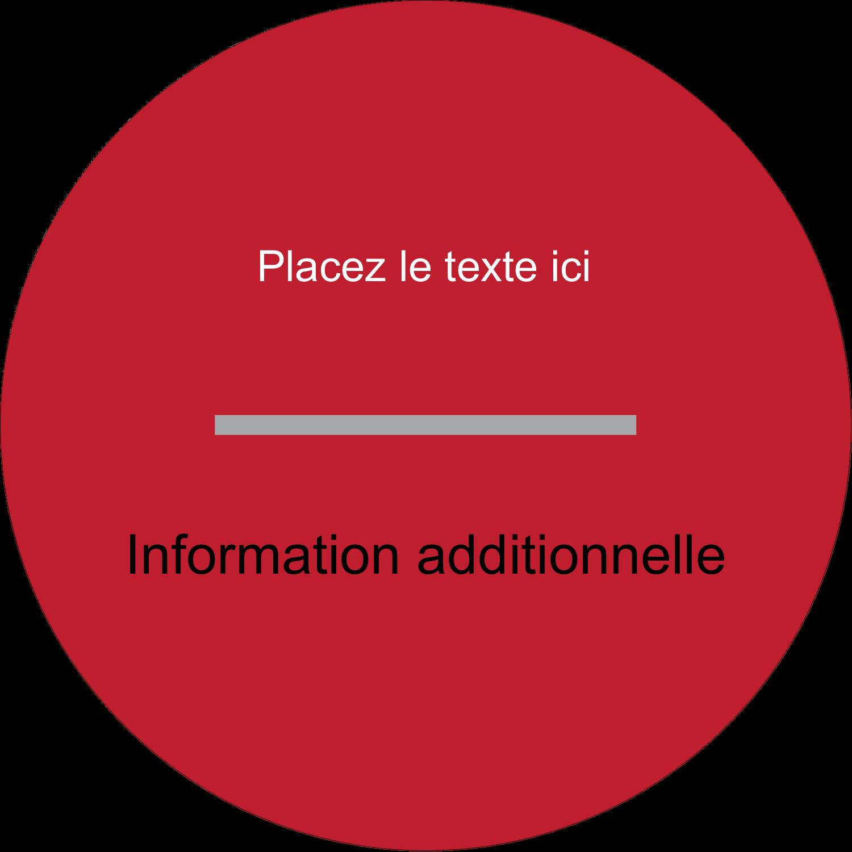 """3"""" Diameter Étiquettes rondes - Littoral rouge"""