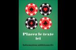 Partie de poker Carte Postale - gabarit prédéfini. <br/>Utilisez notre logiciel Avery Design & Print Online pour personnaliser facilement la conception.