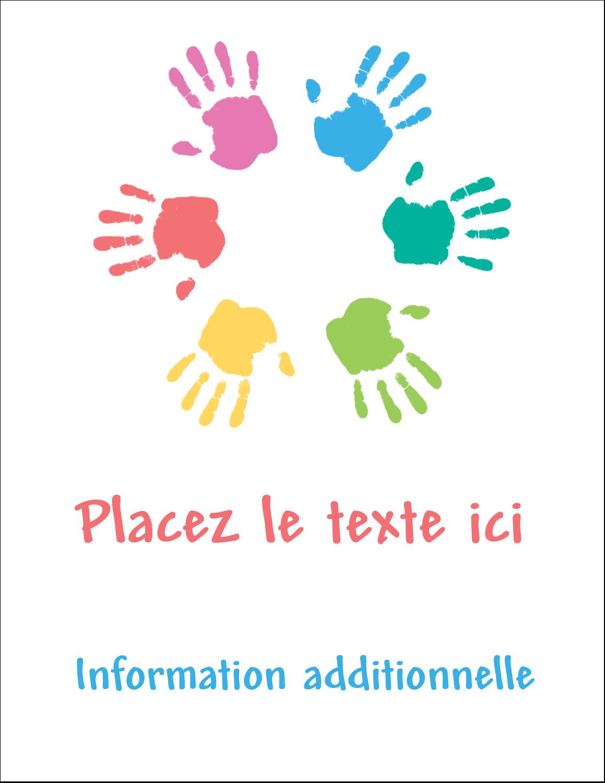 """5½"""" x 4¼"""" Carte Postale - Mains enfantines"""