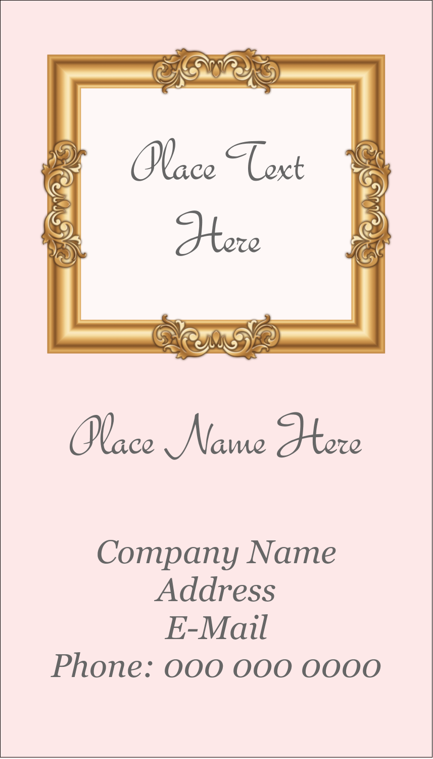 "3½"" x 2"" Business Card - Art Gallery"
