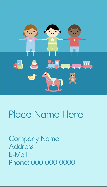 "3½"" x 2"" Business Card - Babysitting Education"