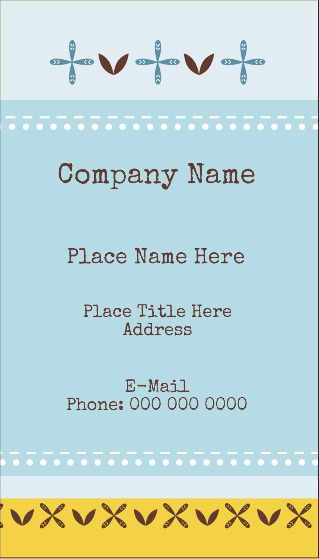 "3½"" x 2"" Business Card - Bath Blue"