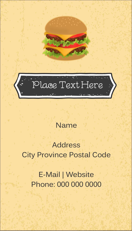 "3½"" x 2"" Business Card - Burger"