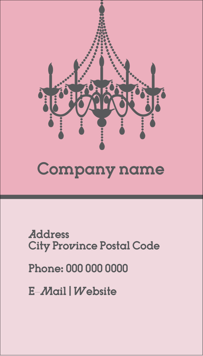 "3½"" x 2"" Business Card - Chandelier"