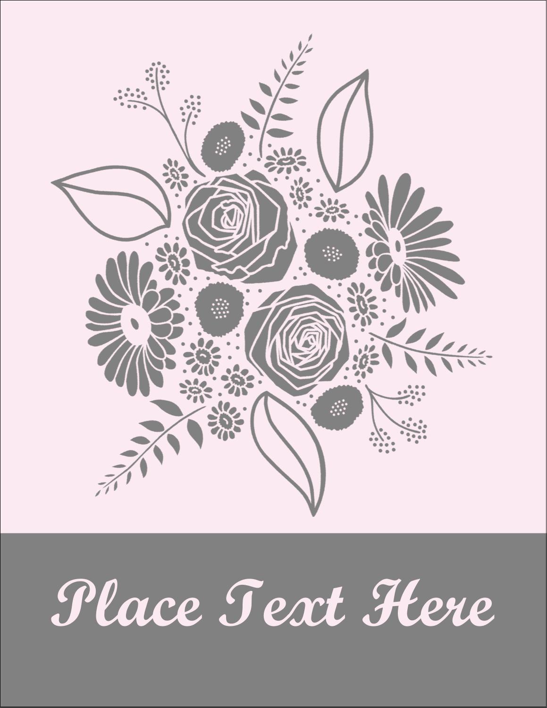 """4¼"""" x 5½"""" Postcard - Floral Bouquet"""