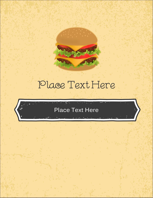 "4¼"" x 5½"" Postcard - Burger"