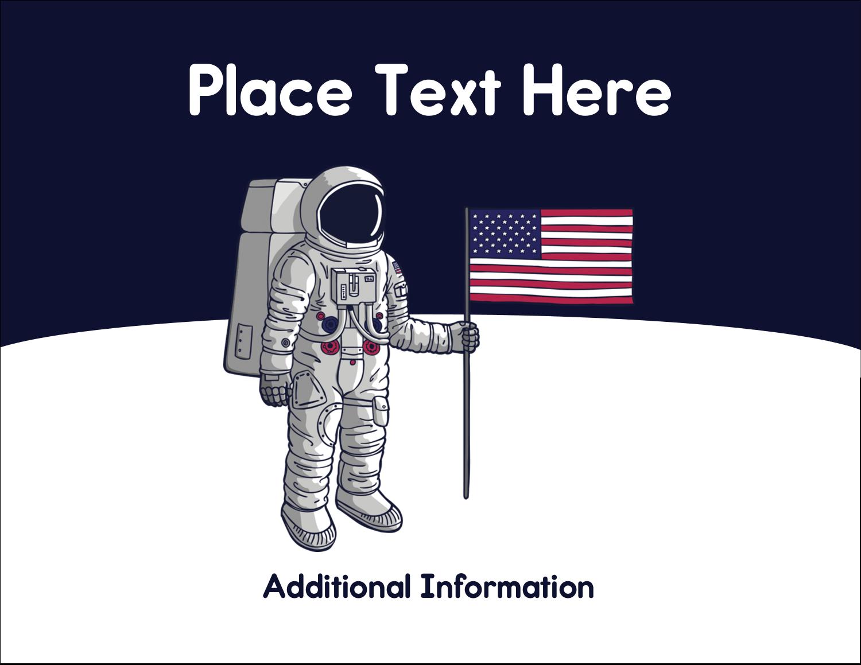 "4¼"" x 5½"" Postcard - Astronaut"