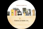 Menuiserie  Étiquettes rondes - gabarit prédéfini. <br/>Utilisez notre logiciel Avery Design & Print Online pour personnaliser facilement la conception.