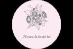 Bouquet de fleurs Étiquettes rondes - gabarit prédéfini. <br/>Utilisez notre logiciel Avery Design & Print Online pour personnaliser facilement la conception.