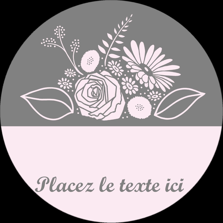 """3"""" Diameter Étiquettes rondes - Bouquet de fleurs"""
